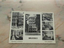 """BRUSSEL / BRUXELLES: Restaurant """" La Couronne"""" 28 Grand'Place -  Hôtel Grill 319 Av. Louise - Cafés, Hotels, Restaurants"""