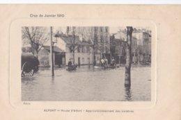 Carte 1910 ALFORT / ROUTE D'ALFORT / APPROVISIONNEMENT DES SINISTRES - Maisons Alfort