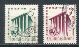 Deutsches Reich 692/93 Gestempelt Mi. 9,- - Gebraucht