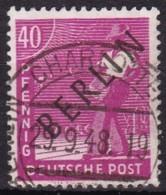 Berlin, 1948, 12, Used. Schwarzaufdruck, - Berlin (West)