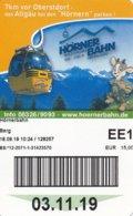 Bolsterlang Fahrkarte Berg 2019 Hörnerbahn Allgäuer Büble Bier - Bahn