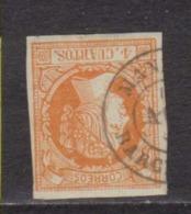 Año 1860 Edifil 52 Sello 4c Isabel II Matasellos Manresa Barcelona  Tipo II - 1850-68 Royaume: Isabelle II