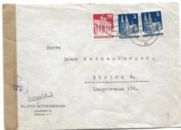 222 - 66 - Enveloppe Envoyée De Hamburg En Suisse 1949 - Censure - [7] República Federal