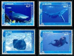 POLYNESIE 2008 - Yv. 824 825 826 Et 827 **   Faciale= 1,13 EUR - Raie, Dauphin, Baleine, Requin (4 Val.)  ..Réf.POL24831 - Polinesia Francese