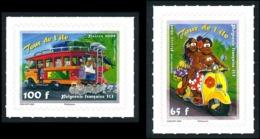 POLYNESIE 2008 - Yv. 835 Et 836 **   Faciale= 1,39 EUR - Autoadhésifs Scooter Et Autobus (2 Val.)  ..Réf.POL24836 - Französisch-Polynesien