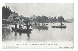 23638 - Vallée De Joux Le Port Du Moulin Au Rocheray Barques + Cachet La Golisse 1907 (attention Coins Cassés) - VD Waadt