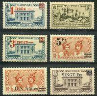 Martinique (1945) N 220 à 225 * (charniere) - Martinique (1886-1947)