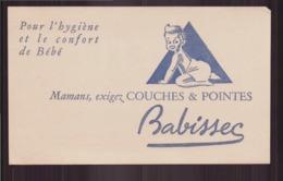 "Buvard ( 20 X 12 Cm ) "" Babissec "" Couches & Pointes "" - Kinder"