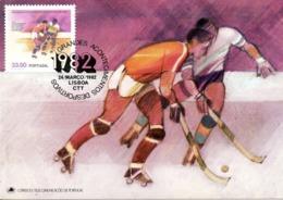 PORTUGAL. N°1538 De 1982 Sur Carte Maximum. Hockey Sur Patins à Roulettes. - Hockey (su Erba)