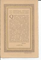 Maréchal Pétain 4 Aout 1918 Texte Sur Une Carte Postale - Hommes Politiques & Militaires
