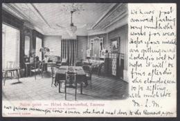 CPA  Suisse, LUZERN / LUCERNE, Salon Privé De Hôtel Schweizerhof, 1903 - LU Lucerne