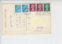 GRAN BRETAGNA 1971 - Cartolina Per Italia Con Elisabetta Da Libretti - 1952-.... (Elisabetta II)