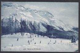 CPA  Suisse, Bandy At ST MORITZ, 1909 - GR Grisons