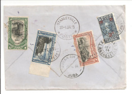 Air Mail Leopoldville 18.1.34>Stanleyville>Sudan Air Juba>Madagascar 11.2.34 Destination Rare. Taxe Fr9,50 - Luftpost: Briefe U. Dokumente