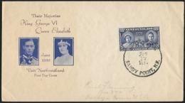 1939 - NEWFOUNDLAND (TERRE-NEUVE) - FDC +  Scott 249 + SANDY POINT - Postzegels