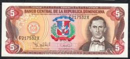 DOMINIC REPUBLIC P152 5 PESOS ORO 1996       UNC. - Dominicana