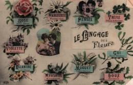 CPA - FANTAISIE - LANGAGE DES FLEURS - EditionE.L.D. - Flores