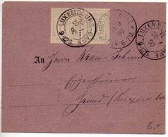 Luxembourg : Paire 1c Allégorie Sur Carte De 1890 - 1882 Allégorie
