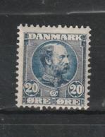 1904 CHRISTIAN IX 20 ORE BLUE MNH** - Nuovi
