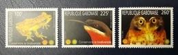 GABON 2004 - BIODIVERSITY BIODIVERSITE SHELL OIL PETROLEUM - SHORT SET- FROG OWL BIRDS FROGS OWLS BIRDS - MNH - RARE - Gabon