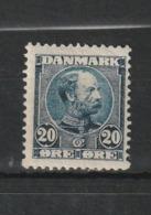 1904 CHRISTIAN IX 20 ORE BLACK BLUE MNH** - Nuovi