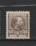 1904 CHRISTIAN IX 25 ORE BROWN MNH** - Nuovi