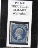 Calvados - N° 14A (défx) Obl PC 3431 Trouville-sur-Mer - 1853-1860 Napoléon III