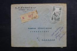 A.O.F. - Enveloppe Commerciale En Recommandé De Cotonou Pour Glazoue En 1951 - L 47323 - Lettres & Documents