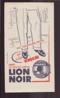 "Buvard ( 20.5 X 11.5 Cm ) "" Lion Noir "" Cirage Crème - Zapatos"