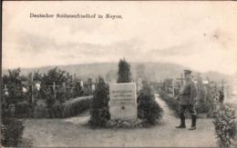 ! Soldatenfriedhof Bei Noyon, Carte Allemande,  1. Weltkrieg, Guerre 1916, Feldpost 18. Inf. Div. - Cimiteri Militari