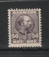 1904 CHRISTIAN IX 50 ORE BROWN LILAC MH* - Nuovi