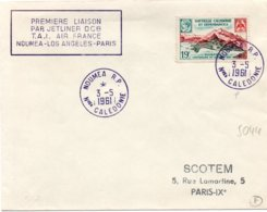 1er Vol Nouméa Los Angelès Paris Par DC 8 Air France 1961 - Erstflug Inaugural Flight - Briefe U. Dokumente