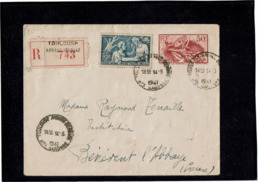 LCTN58/5 - ENV LA MARSEILLAISE PAPIER SOIE GRIS CIRCULEE AU TARIF RECOMMANDE 14/3/1941 - Buste Postali E Su Commissione Privata TSC (ante 1995)
