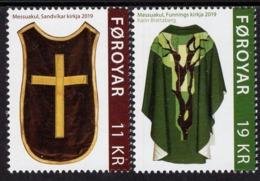 Faroe Islands - 2019 - Church Textiles - Chasubles - Mint Stamp Set - Faroe Islands