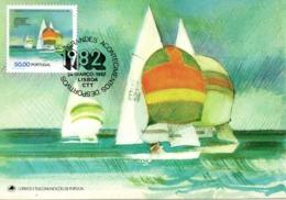 PORTUGAL. N°1539 De 1982 Sur Carte Maximum. Voile De La Classe Internationale 470. - Segeln