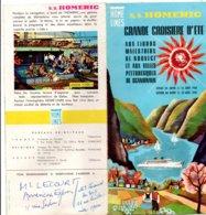 Home Lines - Paquebot Homéric 1961 - Dépliant - Croisière Scandinavie - Nautique & Maritime