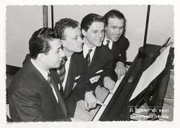 Musica - Fotografia Con Dedica Autografa Del Gruppo Il Poker Di Voci - 1954 - Autografi