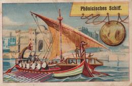 Chromo Bateau Phenicien Alsace Phonicisches Schiff  Paquet Café Procédé Spécial - Tea & Coffee Manufacturers