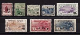 Série  Complète  - 1922 -   Au Profit Des Orphelins De La Guerre , Surchargés  Du  N° 162 **   169 ** . - Neufs