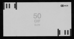 ATM Test Note NCR - Schweiz, 50 Units, Testnote, Typ A, Beids. Druck, RRRRR, UNC - Suisse
