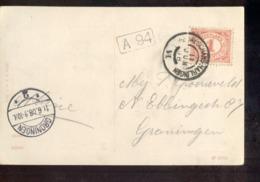 Nieuweschans Harlingen VI - 1908 - Postal History