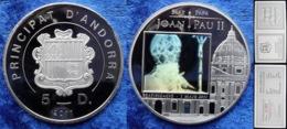 ANDORRA - Silver 5 Diners 2011 Beautification J.Paul II Hologram 2011 KM#324 COA - Andorra
