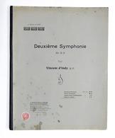 Spartito - Vincent D'Indy - Deuxieme Symphonie - Piano A 4 Mani - Ed. 1904 - Zonder Classificatie