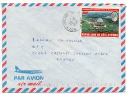 COTE D'IVOIRE - AIR MAIL COVER TO FRANCE ITALY 1998 / THEMATIC STAMP OUR LADY OF PEACE CATHEDRAL - POPE JOHN PAUL II - Costa D'Avorio (1960-...)