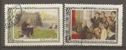RUSSIE -  Yv N°   1527,1528   (o)  Mort De Lénine  Cote  2,5   Euro  BE - 1923-1991 USSR