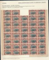 BELGIAN CONGO 1894 ISSUE 5C BROWN BLOCK OF 39 STAMPS BOMA 16.12.1895 - Belgisch-Kongo