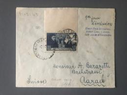 France N°583 Seul Sur Lettre (1er Jour D'émission) Pour La Suisse - Censure Militaire - (B2648) - 1921-1960: Periodo Moderno