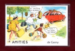 27-CARTE POSTALE GASNY - Andere Gemeenten