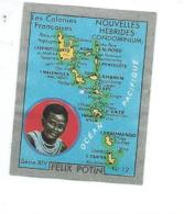 Chromo NOUVELLES HEBRIDES Océanie Felix Potin Ma Collection 1930s TB 52 X 40 Mm Colonies Françaises RARE 2 Scans - Félix Potin