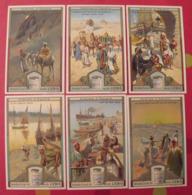 6 Chromo Liebig : Scènes D'Egypte. 1910. S 1005. Chromos. - Liebig
